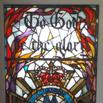 The 201 Squadron window in the Priaulx Library