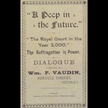 William Vaudin, A peep in the future, pamphlet, Priaulx Library Collection