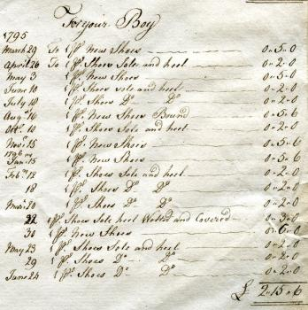 Receipt from Scrap Book in Priaulx Library Collection