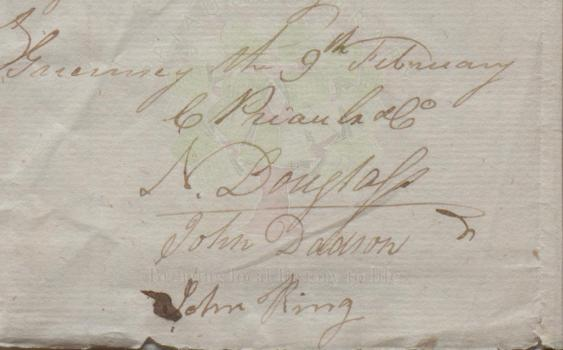 Carteret Priaulx & Co letter 1798 Priaulx Library Collection