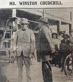 Churchill in Guernsey from the Star August 39 1913,  Librayr COlleciton