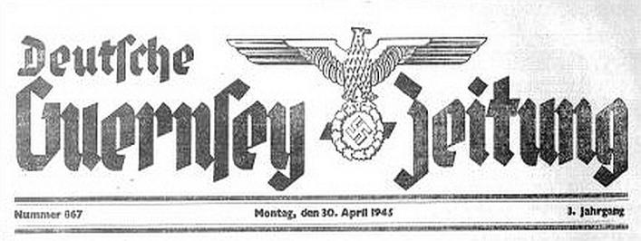 Banner of Deutsche Guernsey Zeitung in Priaulx Library Collection