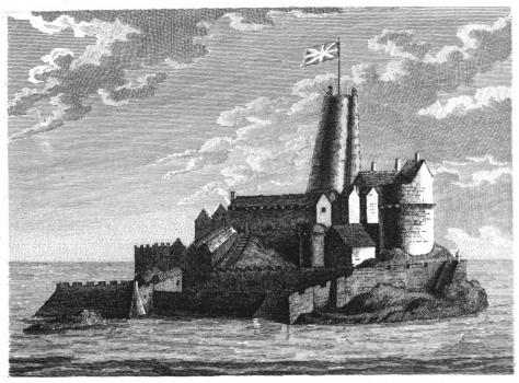 Richard Godfrey 1779 print of Castle Cornet before 1672