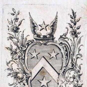 Book-plate of John Guille c 1790, Priaulx Library Collection