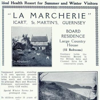 Advertisement for La Marcherie 1915 (c) Priaulx Library