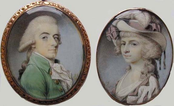 MIniature portraits dated 1785