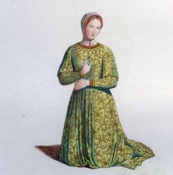 French girl of 14th century, Mercuri & Bonnard, 1860, from the Library Collection