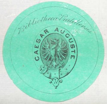 Osmond de Beauvoir Priaulx's personal bookplate