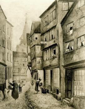 Old Fountain Street by E W DuPuy, Priaulx Library Collection