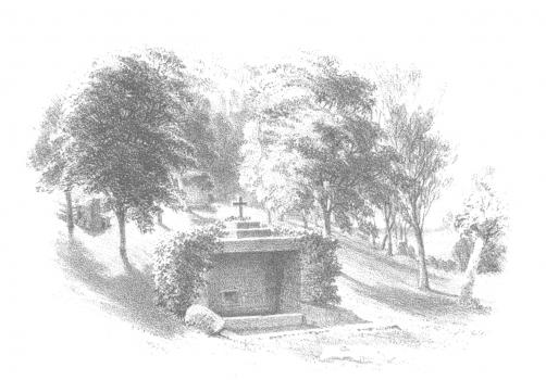St George's Well from Metcalfe's Channel ISland Sketches, 1852, Priaulx LIbrary Collection