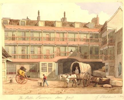 The Bell Savage Inn, from the British Museum
