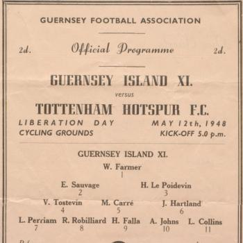 Spurs program 1948, Priaulx Library collection