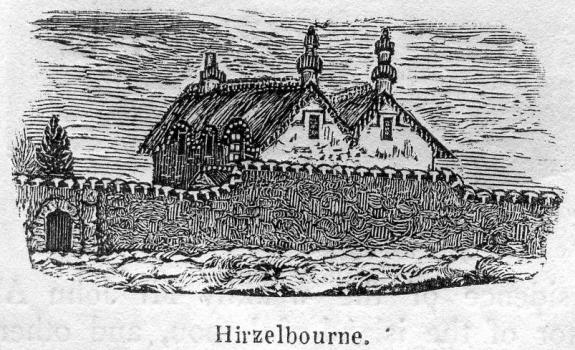 Hirzelbourne from Bellamy's Guide of 1843 in the Priaulx LIbrary Collection