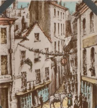 View from Marshall's Hotel 1832 by Celia Montgomery, Priaulx Library collection
