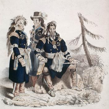Huron chiefs 1825 Copyright Library & Archives Canada