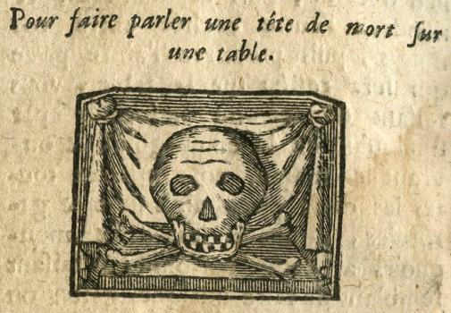 Les secrets des secrets, tete de mort parlante from Priaulx Library collection