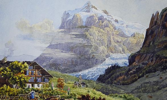 Rosa Brock, Alpine scene, Priaulx Library collection