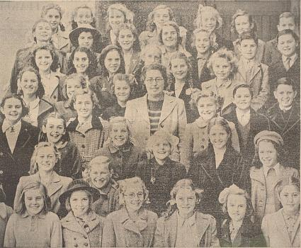 St Sampson's School choir 1947 from the Priaulx Library Collection