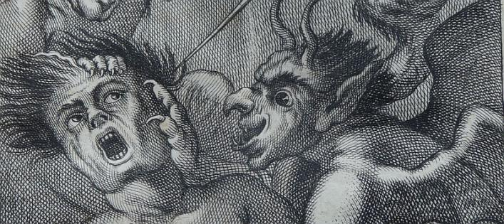 Detail of torment by touch, Perier 1724, Priaulx Library Collection