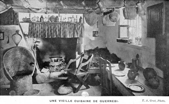 Old Guernsey Kitchen, Thomas Grut, Priaulx Library Collection