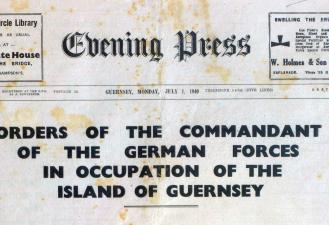 Guernsey Evening Press, July 1940, Priaulx Library, Guernsey