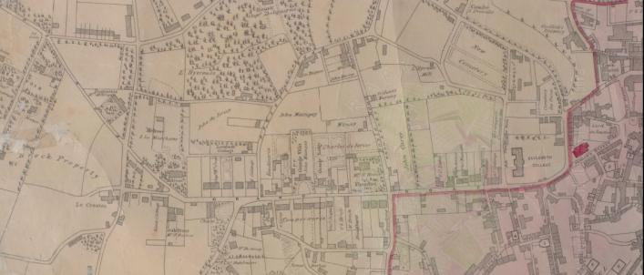 Part of the 1843 map of St Peter Port copyright The Priaulx Library