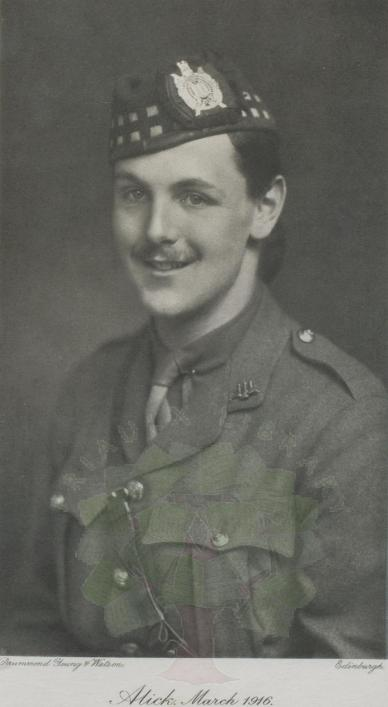Alick Herries 1916 from A Young Borderer, Priaulx Library Collection