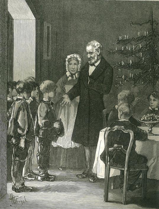 Victor Hugo's Christmas fete, 1865