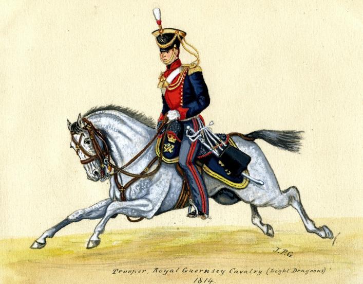 Trooper, Royal Guernsey Calvary, 1814