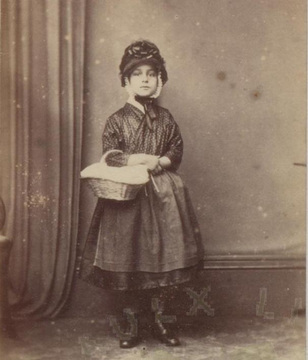 Elise Mauger aged 9 years, from the Priaulx Library Collection.