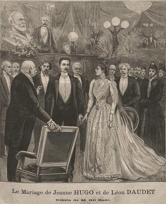 The marriage of Jeanne Hugo and Leon Daudet from Le Progres illustre de Lyon