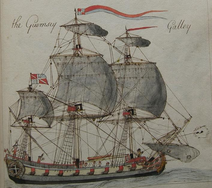 The Guernsey Galley, from Richard de Jersey's Book of Navigation in the Priaulx LIbrary Collection