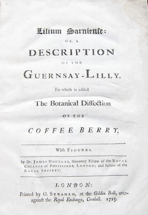 Frontispiece of Douglas' Guernsay Lilly, 1725, in the Priaulx Library Collection