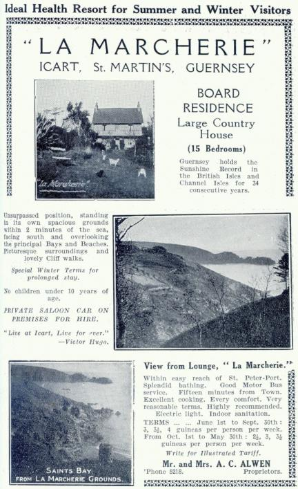 Advertisement for La Marcherie 1915 (c) Priaulx Library