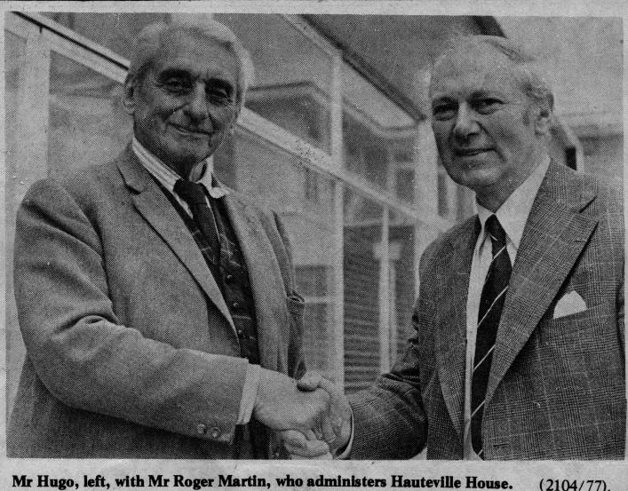 Jean Hugo and Roger Martin in Guernsey 1977 (c) Guernsey Press