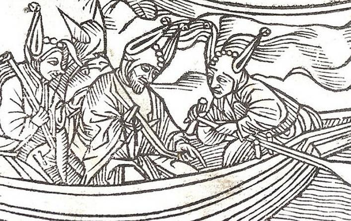 Detail of the Frontispiece of the Ship of Fools, Priaulx Library Collection