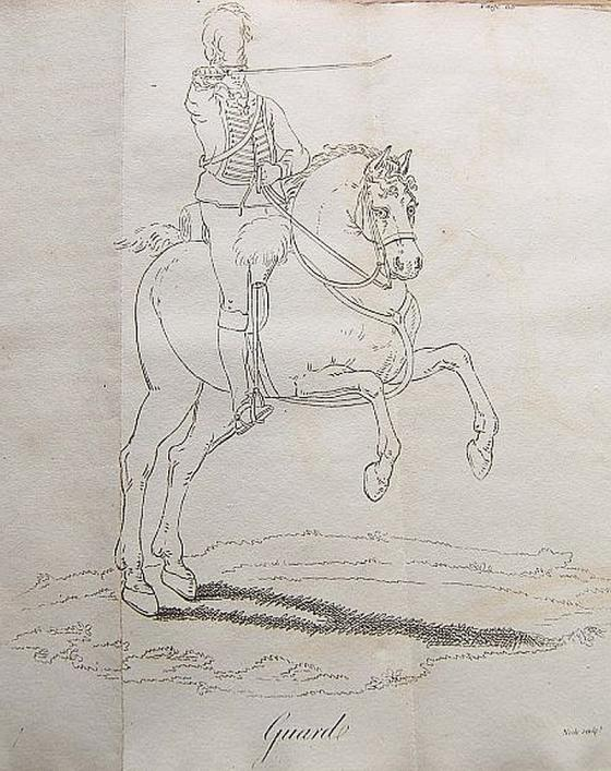 Guard from Sword Exercise by J G Le Marchant, 1796, Priaulx Library Collection