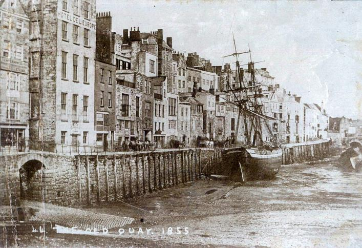 The Coal Quay, Guernsey, 1855
