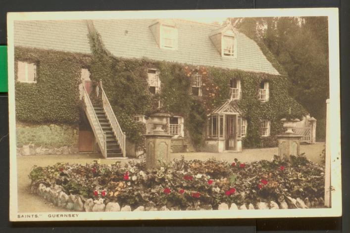 A postcard of a farm at Saints from the Priaulx Library collection, Guernsey