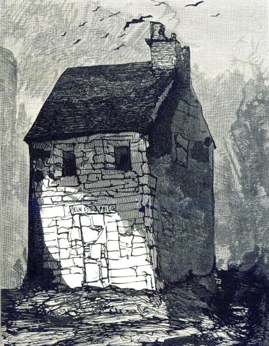 Victor Hugo's Maison visionnee from a lithograph in the Library collection