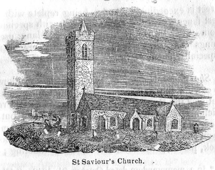 St Saviour's Church from Bellamy's Guide of 1843 in the Priaulx Library collection