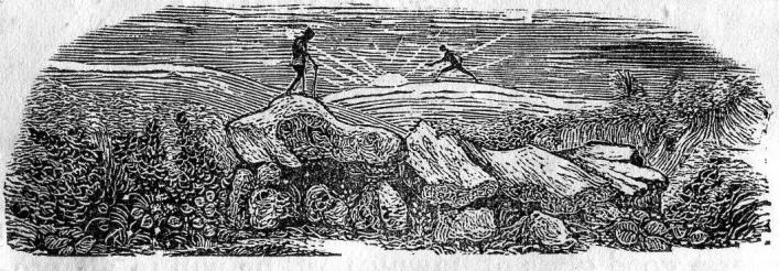 A dolmen from Bellamy's Pictorial Directory and Strangers' Guide of 1843, Priaulx Library collection