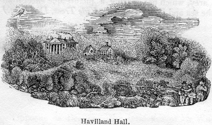 Havilland Hall from Bellamy's Pictorial Directory in the LIbrary Collection.
