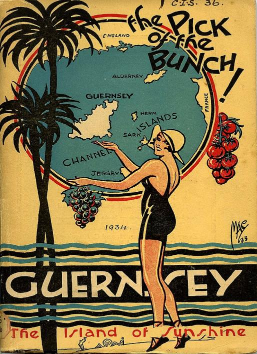 Cover of the Guernsey 1934 tourism brochure