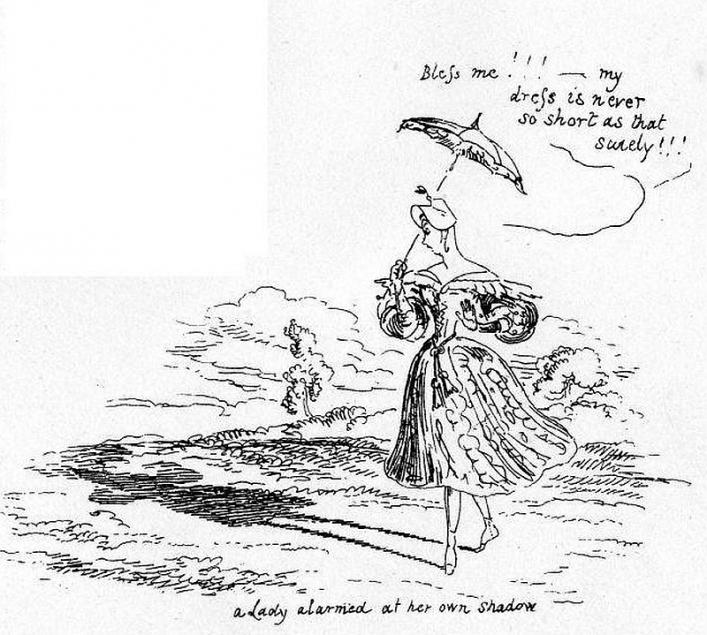 Cruikshank sketch, short dress 1834, from Priaulx Library Collection