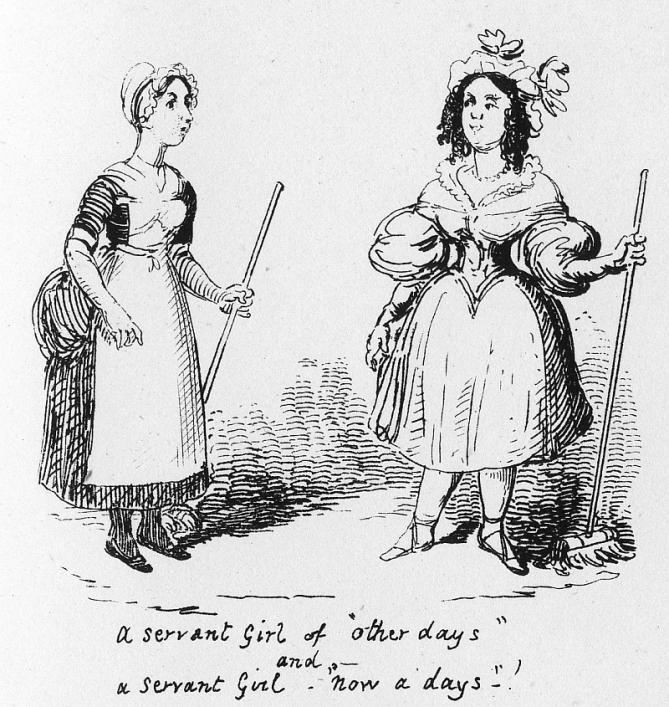 Servants from My Sketchbook, George Cruikshank 1834, Priaulx Library Collection