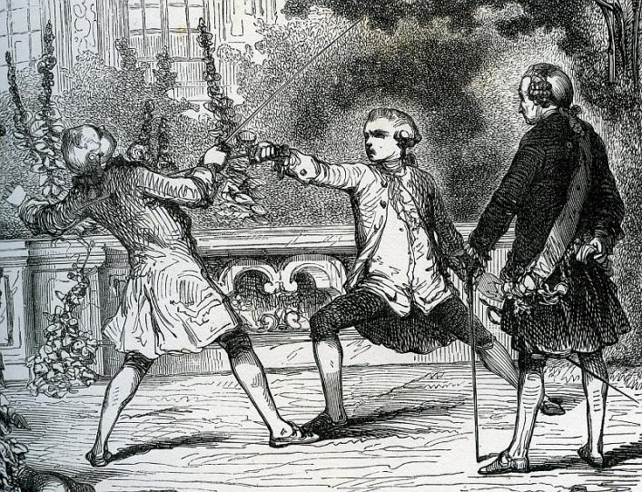 Detail from Grisier's Les Armes et le duel, Priaulx Library Collection