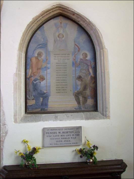 Memorial at St Andrew's Church, Tostock, by Simon Knott