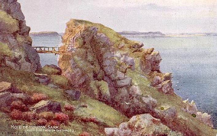 Postcard of the Moie de Mouton, Priaulx Library Collection