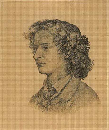 Swinburne by Rossetti 1860 print (c) Delaware Art Museum